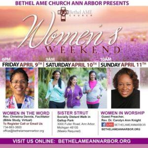 Women's Week flyer